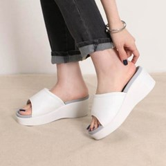 kami et muse Platform middle wedge slippers_KM20s