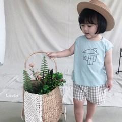 러)깅엄 아동 체크 반바지