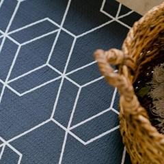 시어서커 큐브 여름 거실 러그 침실 패드 170x230cm_(1816730)