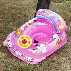 자동차 보행기튜브 핑크 3∼5세용 유아용 물놀이