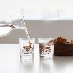 모찌타운 헤롱헤롱 소주잔세트 (술병1개,술잔2개)