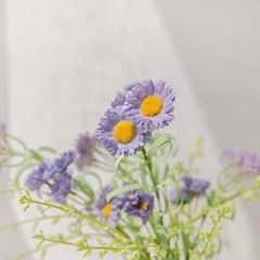 퍼플 데이지 꽃 다발 조화