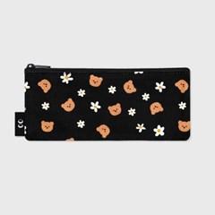 Dot flower bear-black(필통)