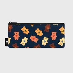 Dot ribbon bear-navy(필통)_(1585975)