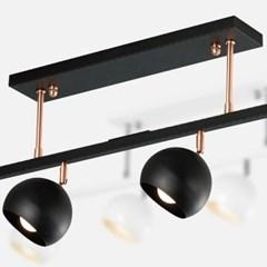 LED 펜던트 그레인 일자 4등 카페 매장조명_(1871505)