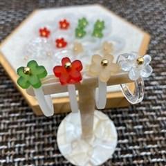 귀여운 파스텔 특이한 플라워 명품 패션 손가락 반지