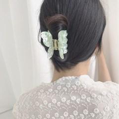 [헤어집게핀] 플러피 나비 헤어클립 ver.2