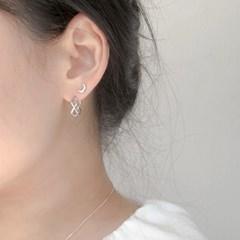 (925실버) 크레센트 초승달 데일리 미니 귀걸이