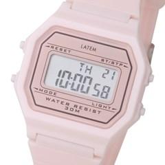 [파우치+키링증정] 베이직 디지털 러버 시계_핑크(AG2G0702DAPP)