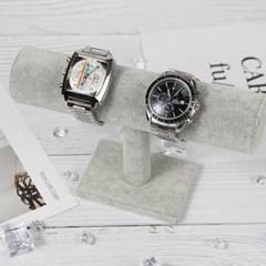 그레이 벨벳 시계 팔찌 보관대 1개