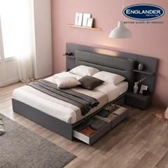 잉글랜더 카디프 LED 수납 침대(매트제외-퀸)_(12760228)