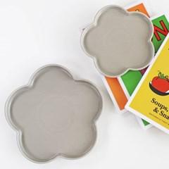 플라워 접시 gray (2size)