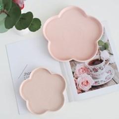플라워 접시 pink (2size)