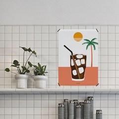 아메리카노2 M 유니크 인테리어 디자인 포스터 커피 카페