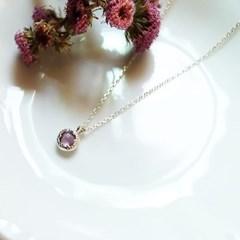 Lavender quartz healing necklace