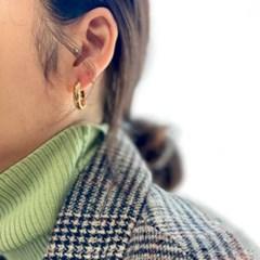 꼬임 미니 링 귀걸이 (2colors)