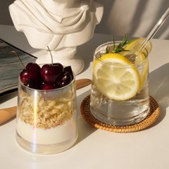[Muhly]뮬리 샤인 홀로그램 카페 유리컵