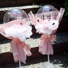 핑크 작약꽃다발 풍선