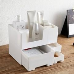 2단분리형 화장품정리함 다용도정리함 화장품정리대