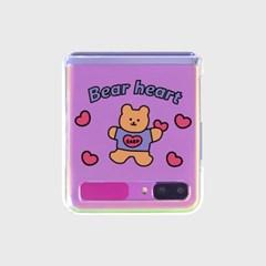 Love bear heart-pastel(Z플립-투명하드)_(1598104)