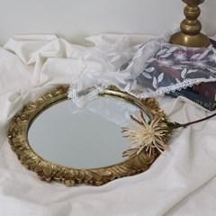 해바라기 플라워 엔틱 원형 거울