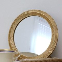 월계수 엔틱 원형 거울