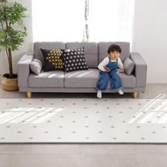 말랑말랑 PVC 15T 크로스 패턴 놀이방매트