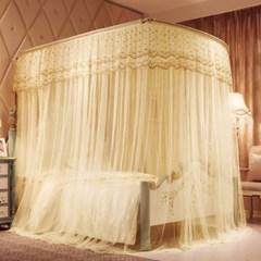 안젤라 U자 침대모기장(180x200cm)/캐노피 모기장