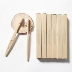 이중미세모 대나무 칫솔 10개입 개별포장 제로웨이스트