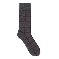 Plaid socks_men