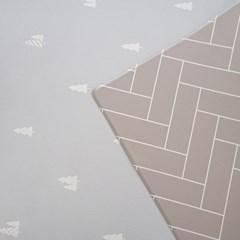 양면 PVC 파인트리 패턴 놀이방 매트 층간소음 방지