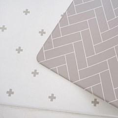 양면 PVC 크로스 패턴 놀이방매트 층간소음방지