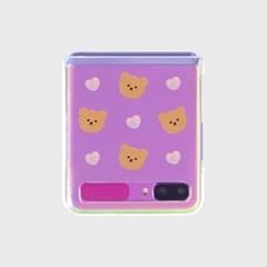 Dot love and bear(Z플립-투명하드)_(1598069)