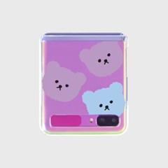Bear affect-blue/purple(Z플립-투명하드)_(1598068)