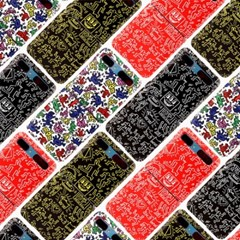 스키누 x Keith Haring 갤럭시 Z플립 하드케이스