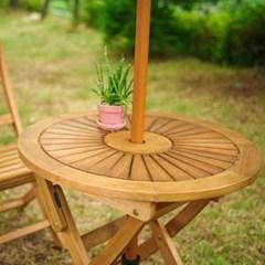 유칼립 원목 접이식 테이블 700
