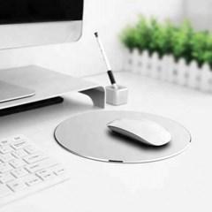 풀알루미늄 고급 엣지 마우스 패드 / 원형