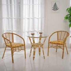 파리 카페 글라스 원형 테이블