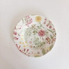 플로럴 영국 디저트 접시 (18cm)