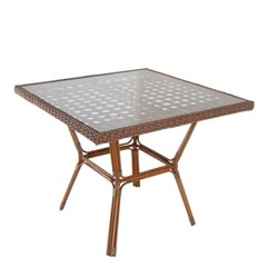 엣지라탄 글래스 사각 테이블 900