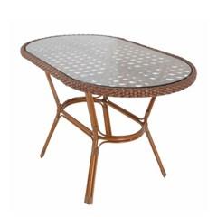 엣지라탄 글래스 테이블 1300