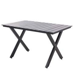 엑스 수지목 사각 테이블 1300