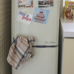 caramel linen check kitchen cloth