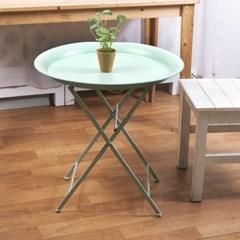 민트 빈티지 접이식 테이블