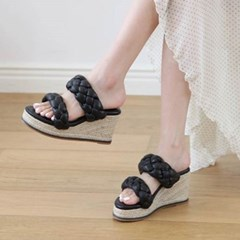 kami et muse Knot strap espadrille wedge slippers_KM20s185