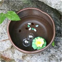 호박 자배기 옹기 도자기 수반 중