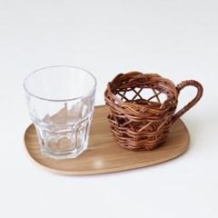 홀리 라탄 컵홀더
