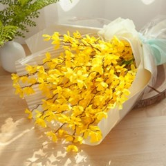 개나리꽃다발 55cmP 조화 꽃다발 FMBBFT_(1822453)