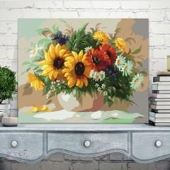 DIY 명화그리기 kit 꽃과 풍경 캔버스 유화그림 해바라기