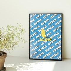 벌룬프렌즈 로우패턴 포스터 - A4,A3